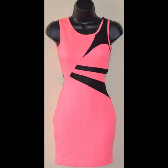 Image of Neon Mesh Dress