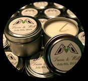Image of Bridal or Baby Shower Favor Soy Candle Tins