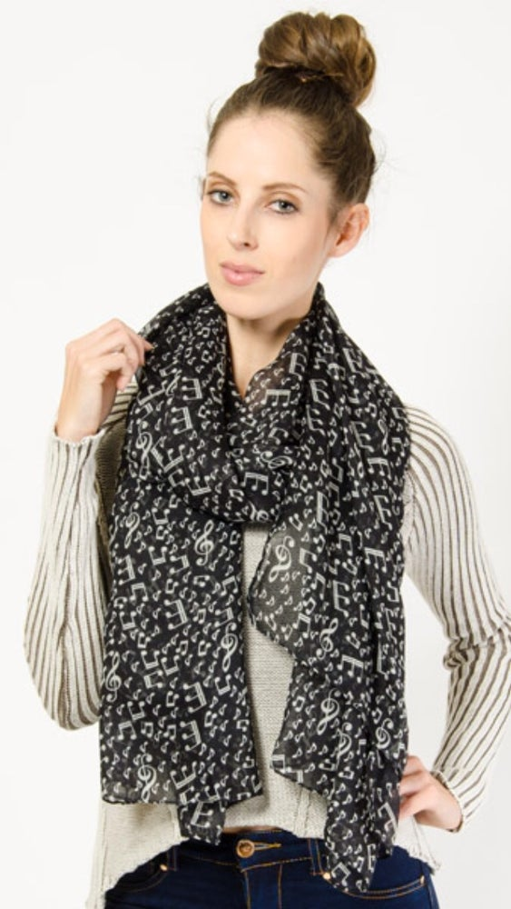 Image of Music Note Scarf