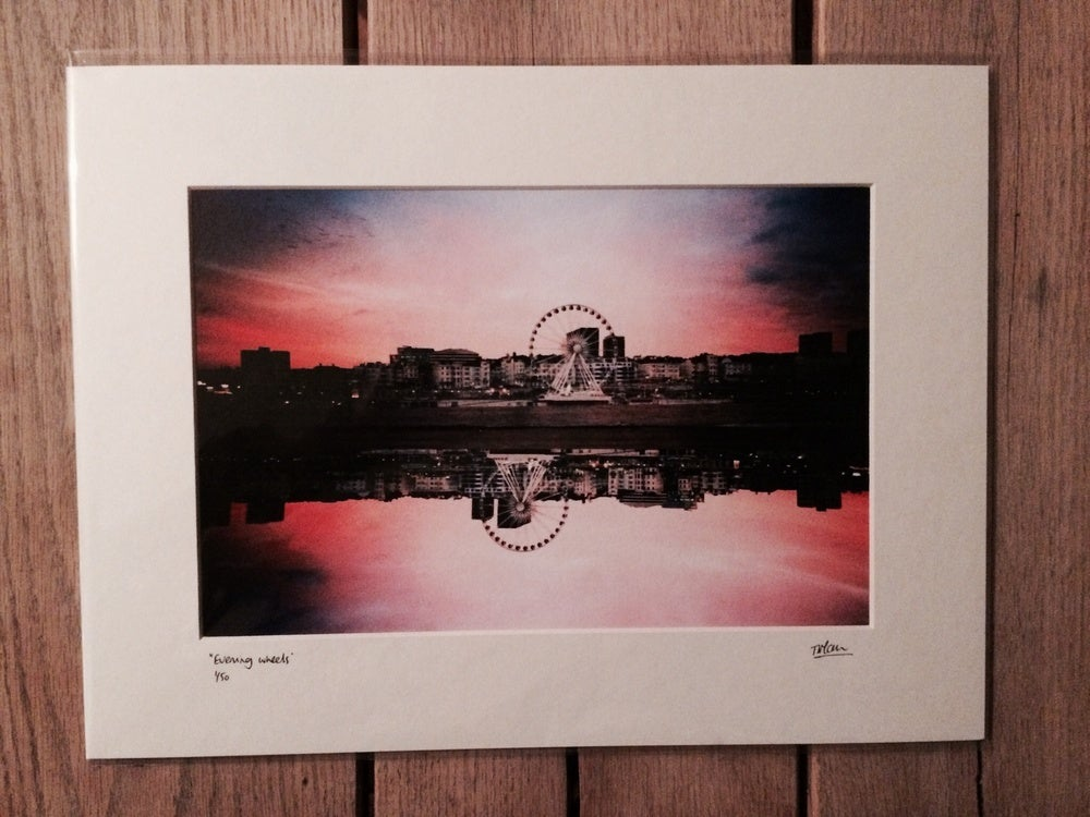 "Image of ""evening wheels"" limited edition print"