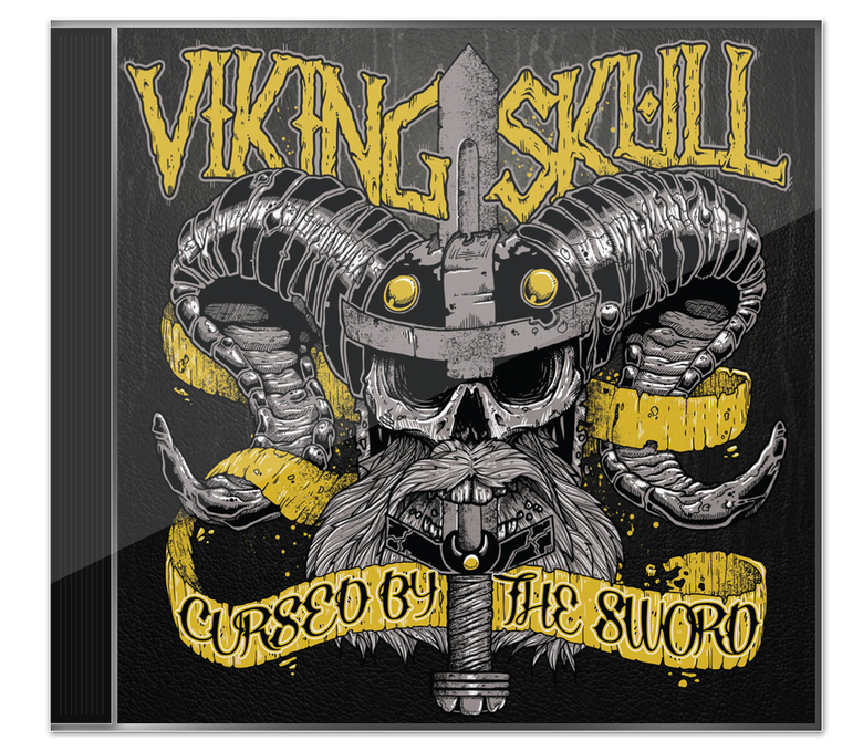 Image of Viking Skull - 'Cursed By The Sword' CD Album