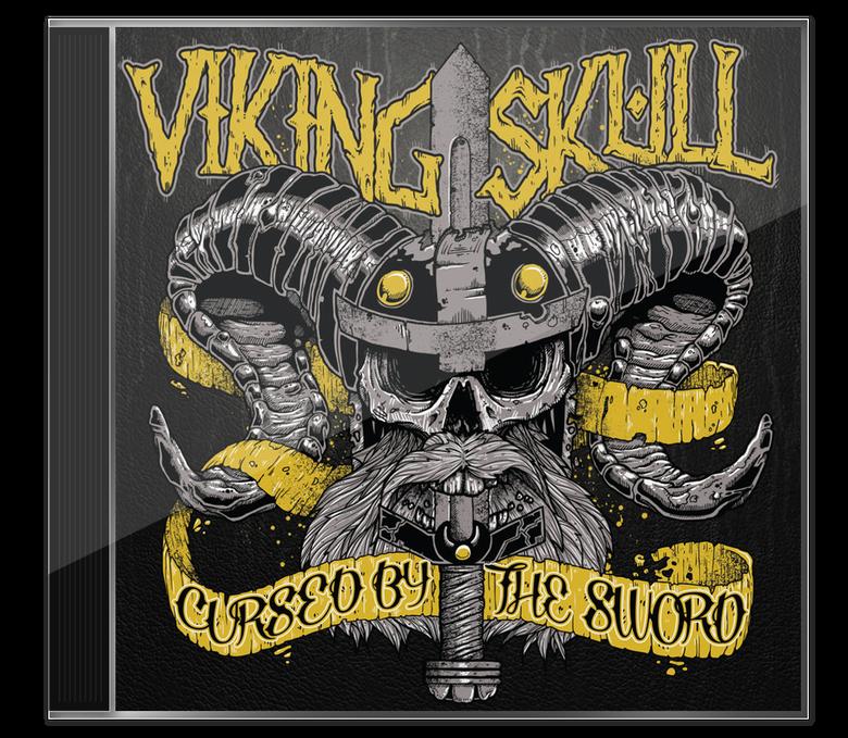 Image of Viking Skull - 'Cursed By The Sword' CD Album