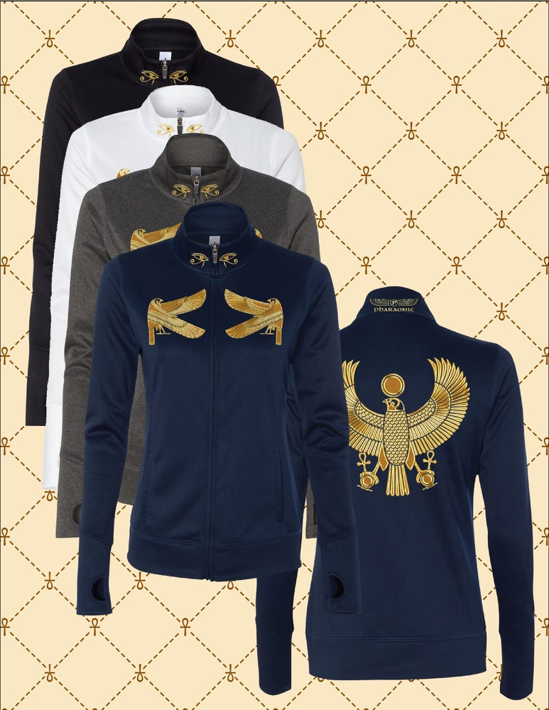 Image of LADIES PERFORMANCE GOLD FOIL SUPER HERU TRACK JACKET
