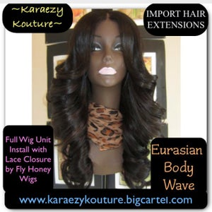 Image of Eurasian BODY WAVE  *THIS HAIR COMES IN NATURAL UNPROCESSED COLOR AND IS NOT SOLD RED*
