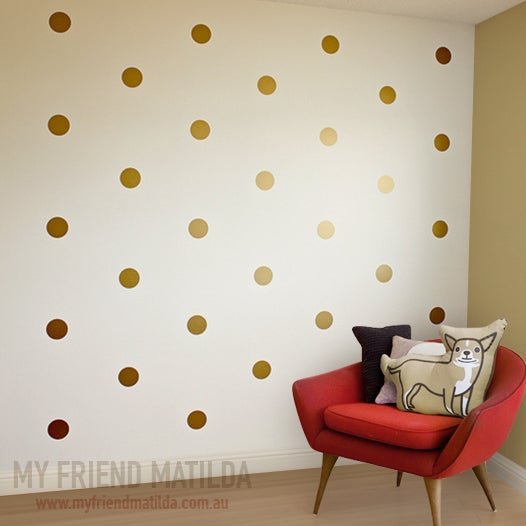 polka dots wall sticker removable wall decals stickers by my friend matilda. Black Bedroom Furniture Sets. Home Design Ideas