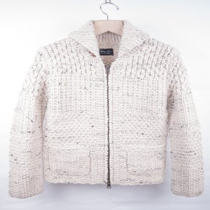 Image of Number (N)ine - FW08 Handknit Zip-up Cowigan Cardigan