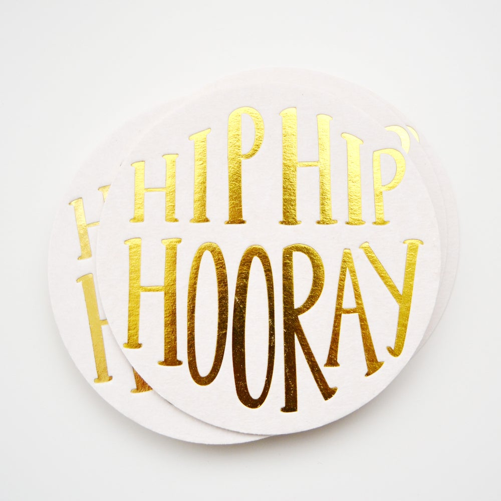 Image of HIP HIP HOORAY! set of 12 coasters