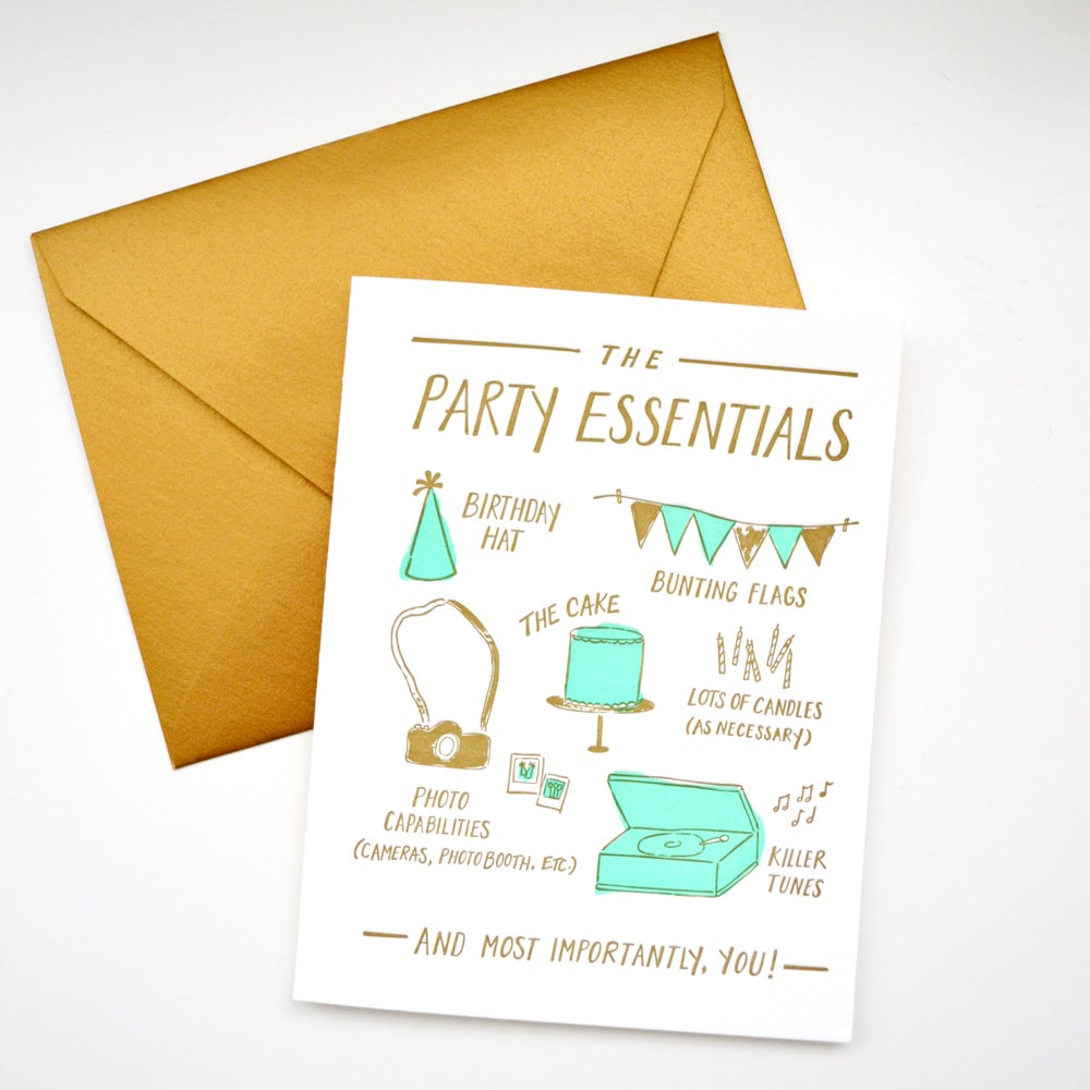 Image of PARTY ESSENTIALS card