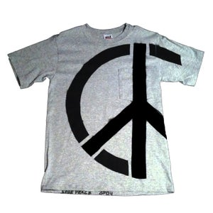 Image of UNISEX Grey Side-Peace Pocket T