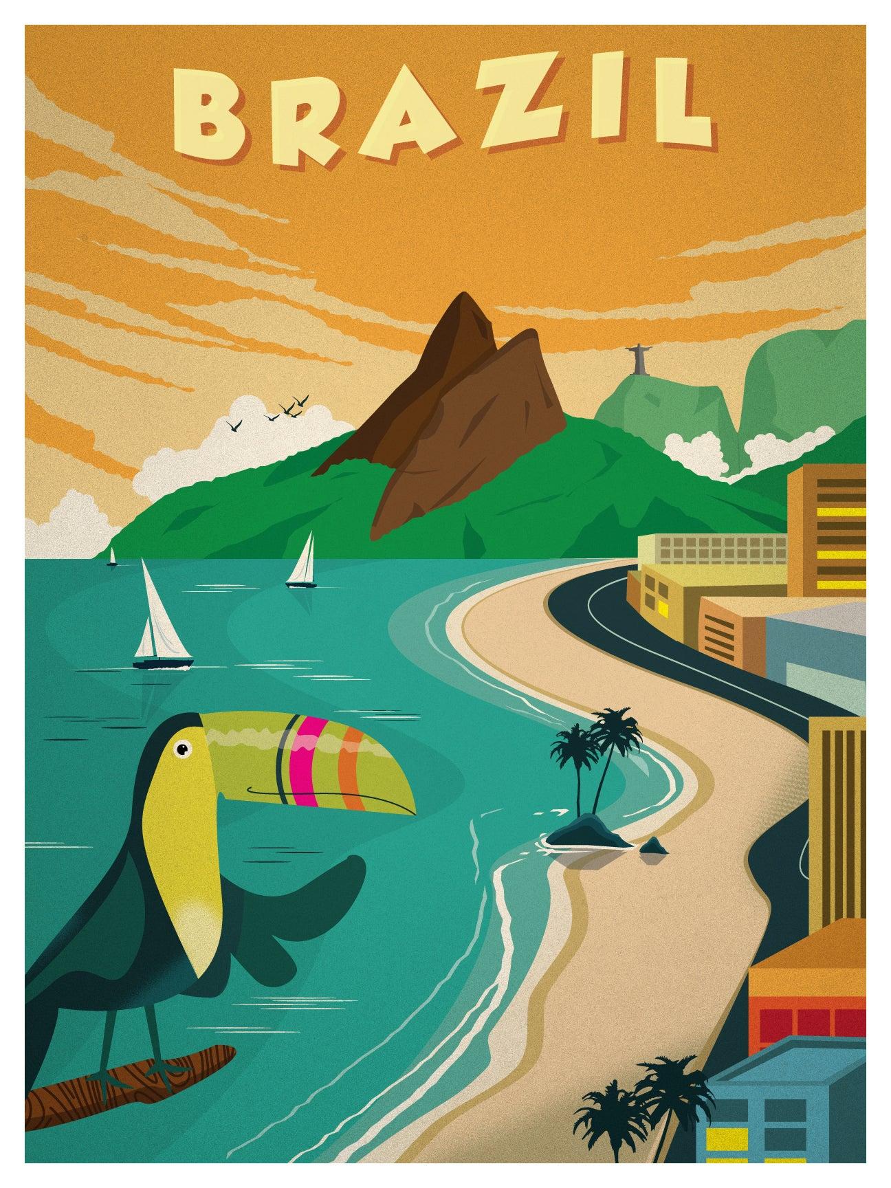 Ideastorm Media Store Vintage Brazil Poster