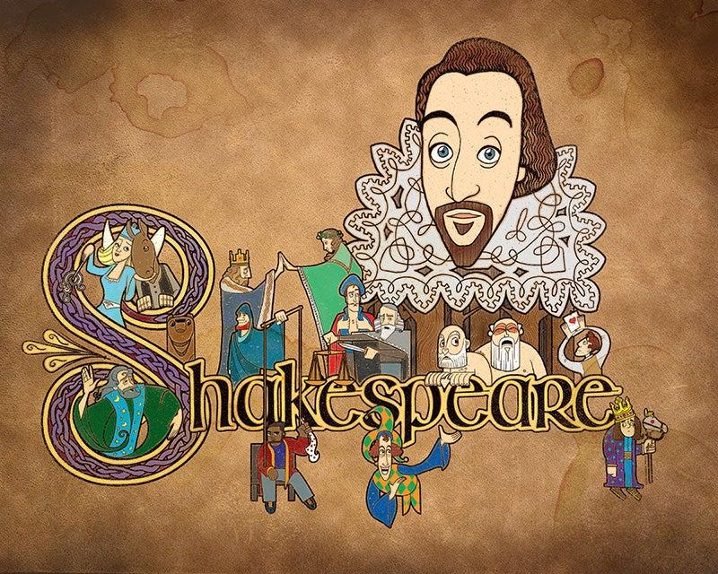 "Image of Shakespeare Illuminated 20"" x 16"" Print - $20"