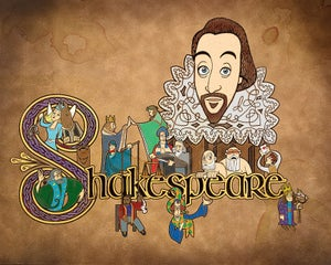 "Image of Shakespeare Illuminated 20"" x 16"" Print - $20"