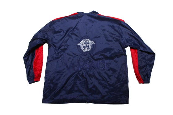Image of VINTAGE VERSACE BLUE TRACK JACKET