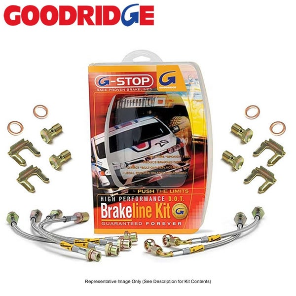 Image of GoodRidge G-Stop Stainless Steel Brake Lines Front/Rear