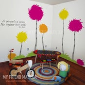 Image of Lorax Truffula Trees - inspired by Dr Seuss