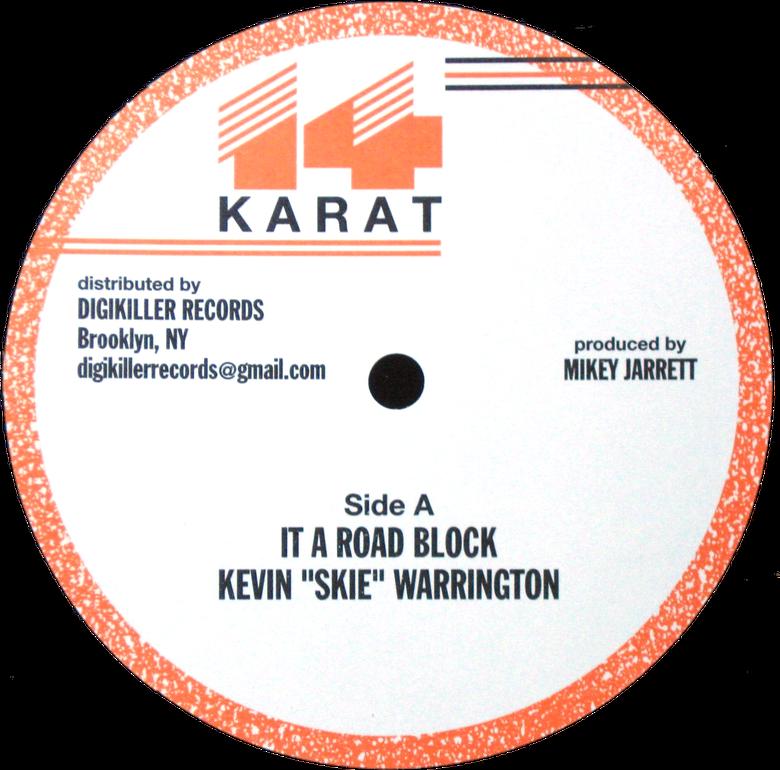 """Image of Kevin 'Skie' Warrington / Mikey Jarrett / Satta George - 4 track EP 12"""" (14 Karat)"""