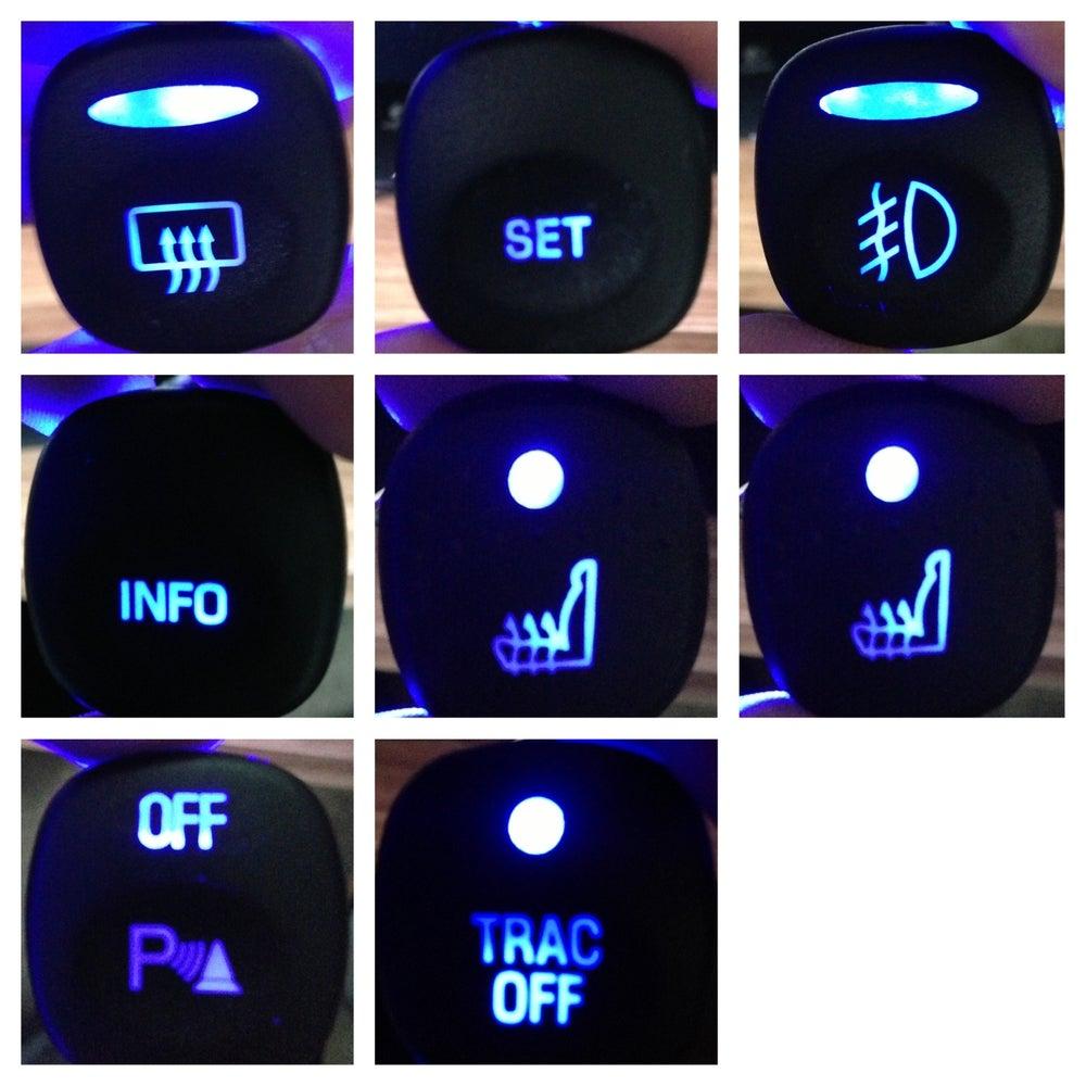 Image of Ford Escape MK1 2000-2007 LED HVAC and Interior Controls