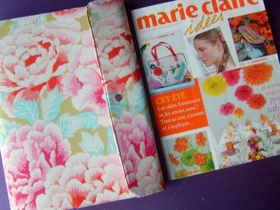 Image of Padfolio organiser in Kaffe Fassett fabric