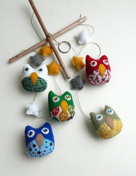 Image of Personalize Baby Owl Mobile - Made to Order