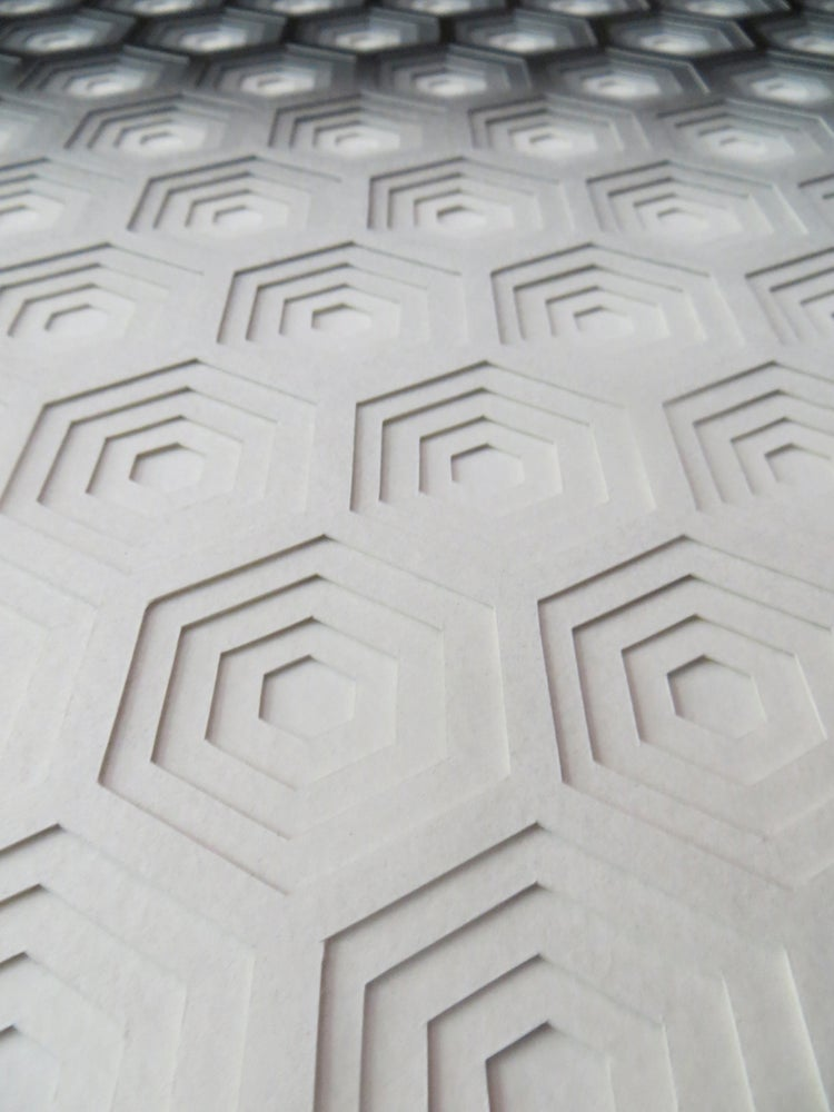 Image of Hexagons - Black and White