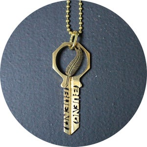 Image of KEY NECKLACE /// FEATHER