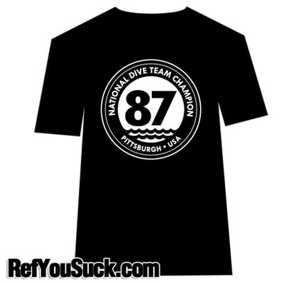 Image of National Dive Team Champ #87 - Pittsburgh USA - Mens & Womens T-Shirt