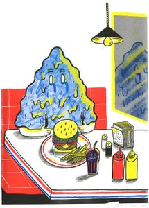 Image of Risoprint/covered in tears in a diner