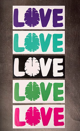 "Image of Love Your Brain Appliqué 6"" Sticker"