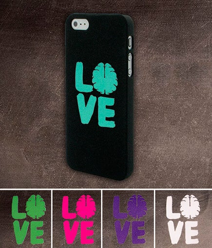 Image of Love Your Brain Stacked Die Cut Sticker