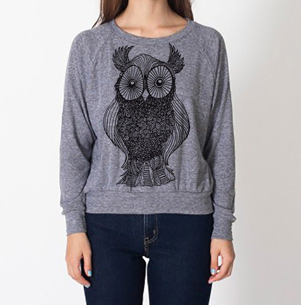 Image of Owl Raglan - Kids/Adult