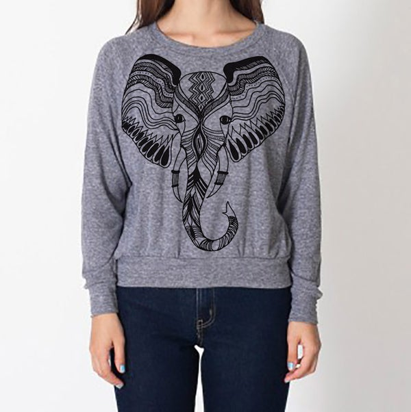 Image of Elefante Raglan - Kids/Adult