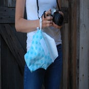 Image of DSLR Camera Bag for Travel | Aqua Dots {*Waterproof} Rain Slicky | Great for the Pool