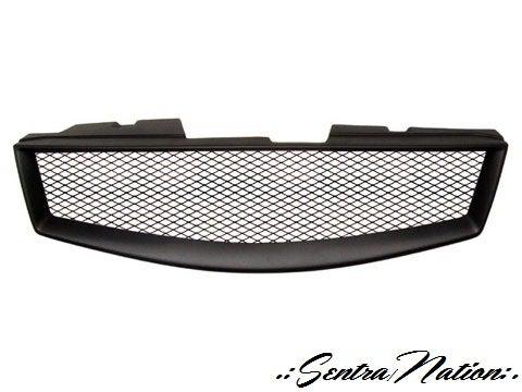 Image of (B16) 07-12 Sentra Front Sports Mesh Grill (SE-R,SpecV,SR)