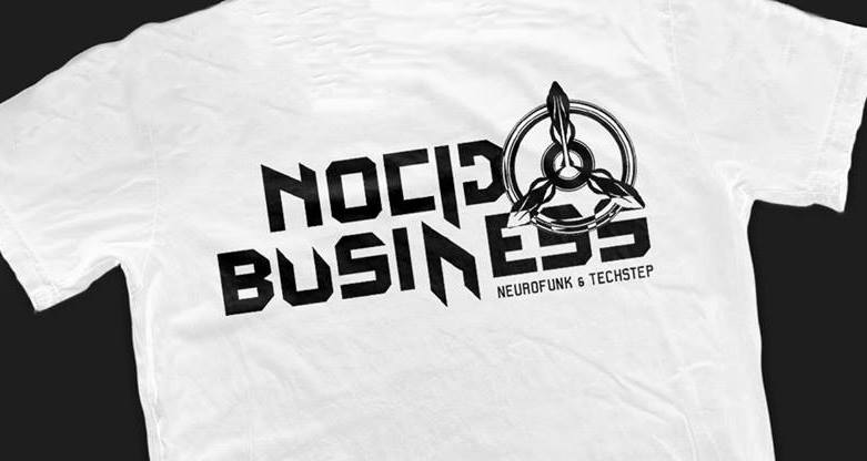 Image of NOCID BUSINESS LOGO WHITE SHIRT