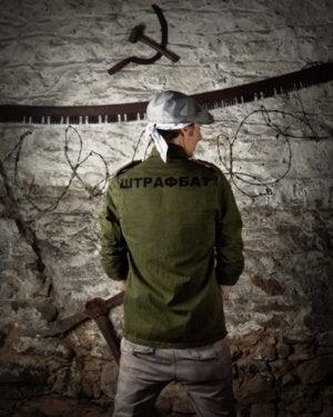 """Image of SH53 [SHTRAFBAT] Vintage """"VET"""" Re-Purposed BDU Jacket/Shirt"""