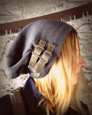 Image of SH76 [SMERSH] UP-Cycled Military Surplus Slouch Hat W/Straps