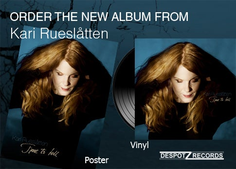 Image of Kari Rueslåtten album Time to tell [VINYL/POSTER]