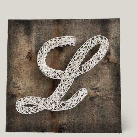 Image of Cursive Monogram Yarn Art