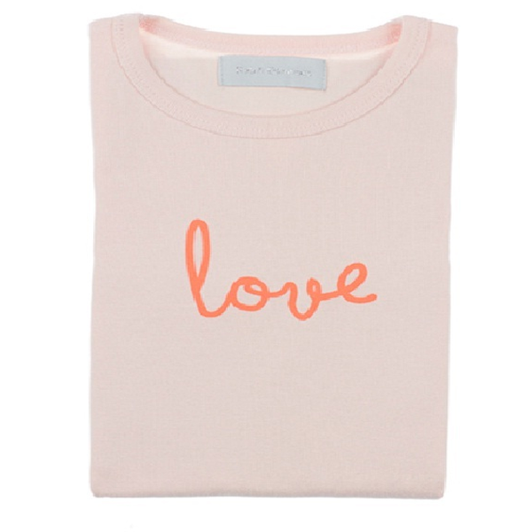 Image of Marshmallow 'Love' Orange Tee