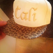 Image of White CALI Cheetah Snapback