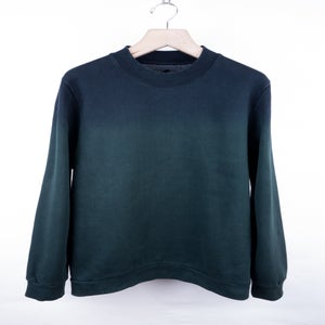 Image of Raf Simons - FW12 Ink Green Gradient Sweatshirt