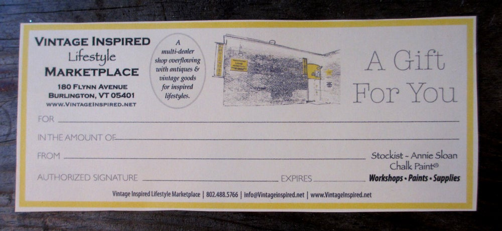 Image of Vintage Inspired Lifestyle Marketplace gift certificate