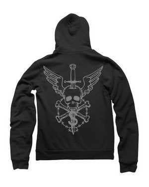 Image of MIR275 FLYING SKULL Hoodie (7 COLORS)