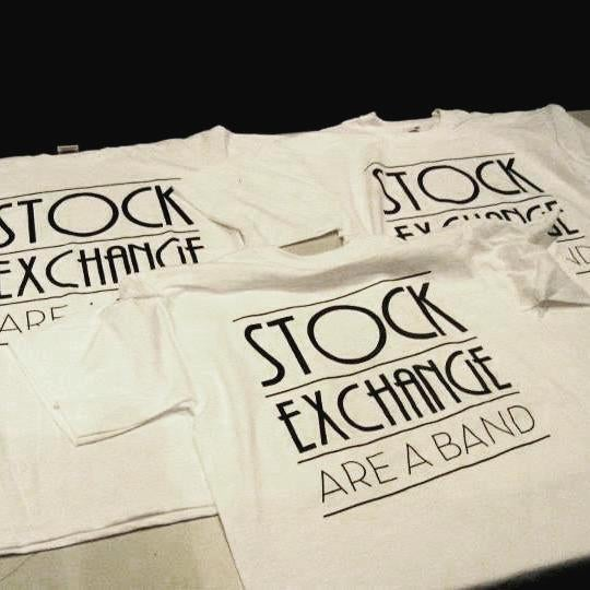 Image of Stock Exchange Are A Band - T shirts (white)