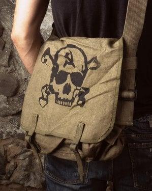 Image of SH91 [MIR SKULL] Vintage Russian Army Shoulder Bag