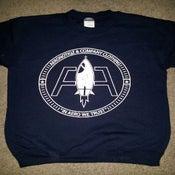 Image of Navy Aeronotiqz Adv. Logo Crewneck