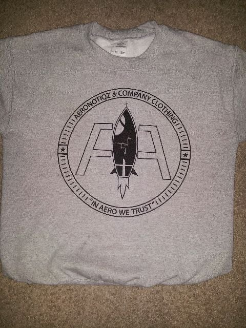 Image of Grey Aeronotiqz Adv. Logo Crewneck