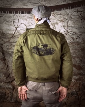 Image of SH97 [TANKIST] Vintage US Army Cold Weather Flight Jacket