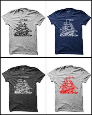 Image of MIR022 GHOST SHIP T-Shirt (7 COLORS)