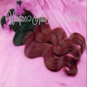 Image of Ombre-2 Color 1B/Burgundy Body Wave-5A